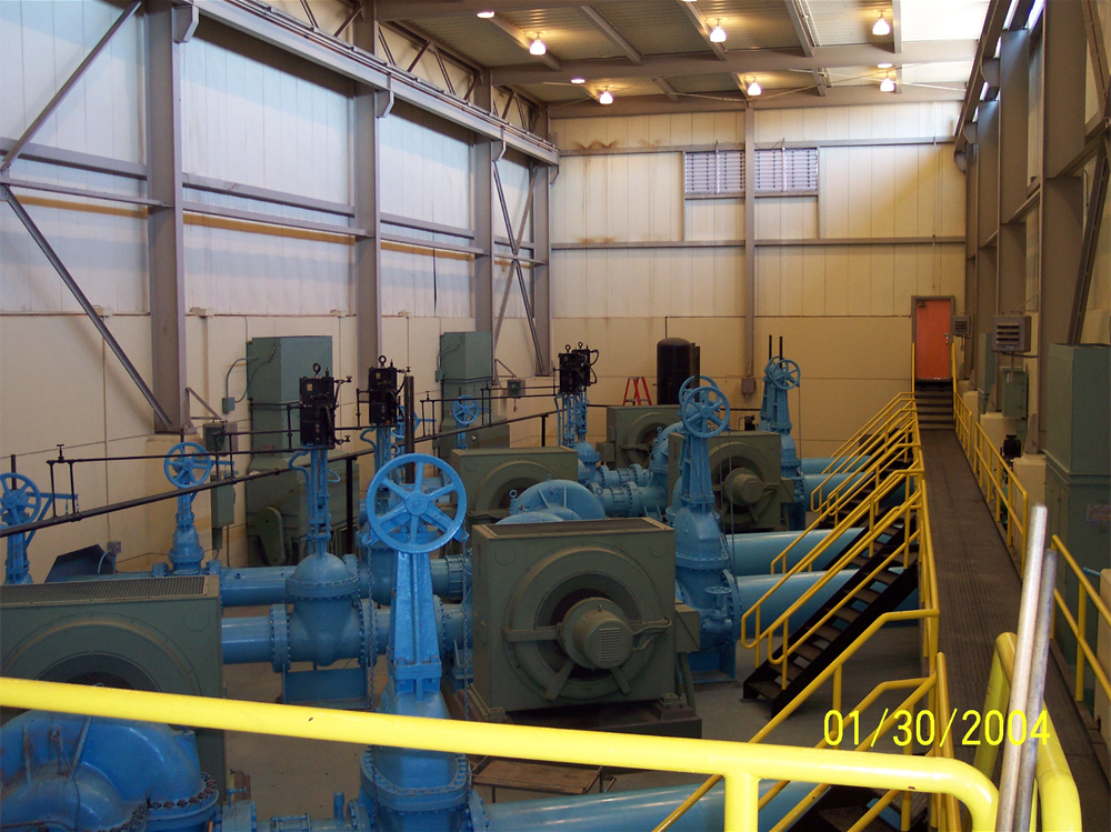 Interior of Pumping Plant No. 1