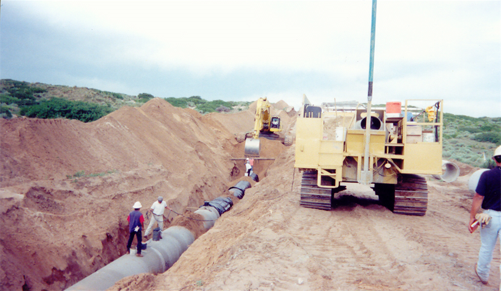 "Laying of 54"" pipe"