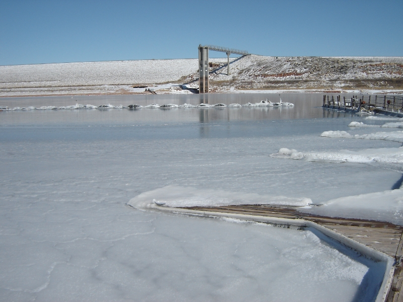 Lake Meredith frozen over in February of 2011
