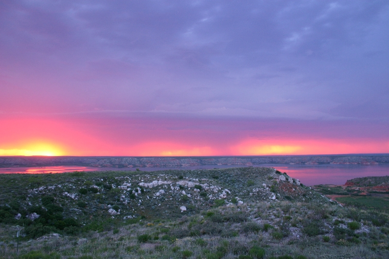Sunset at Lake Meredith
